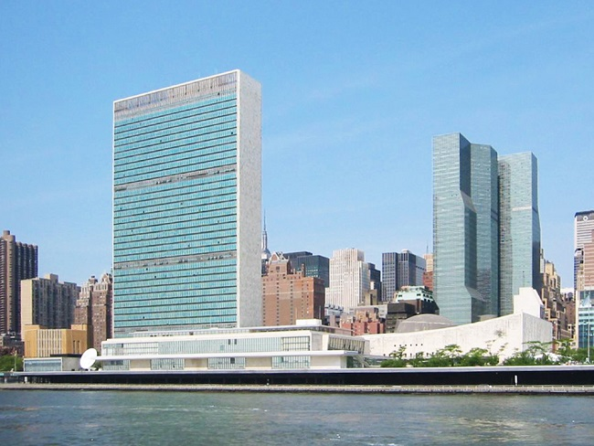 United Nations Headquarter located in New York